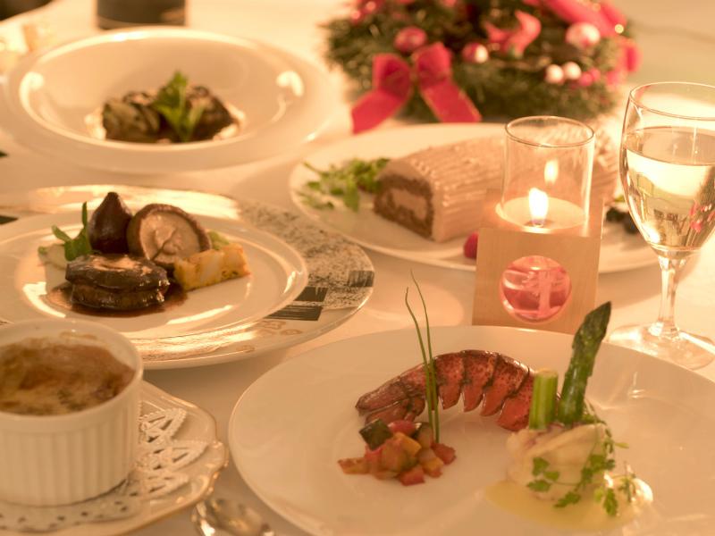 【カップルプラン】フレンチディナープランでは、シェフがお二人のために作ります。ちょっと贅沢なクリスマス。