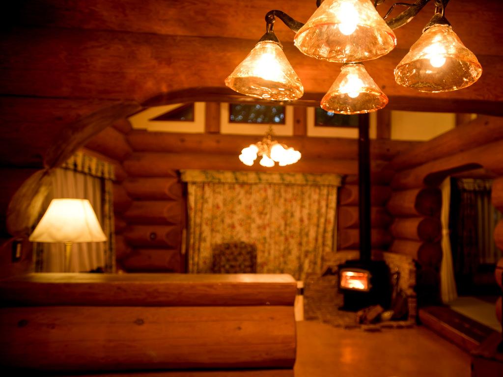 木の温もりあふれるログハウス(客室イメージ)