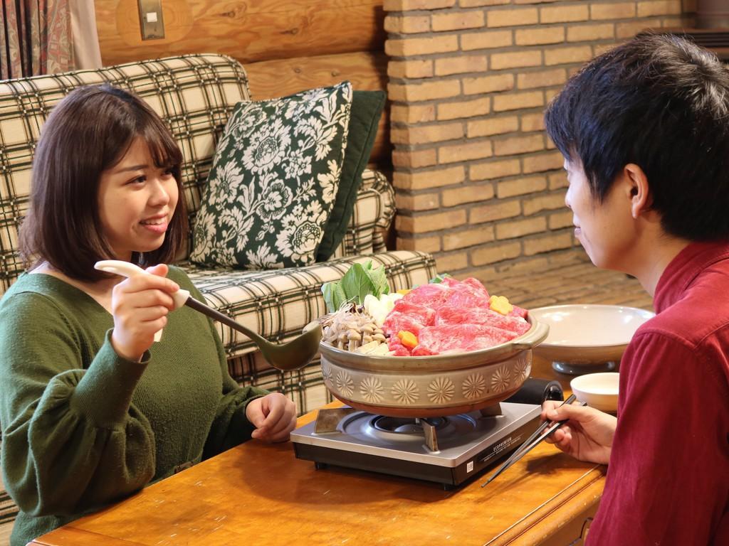 【ログハウス】お部屋でのんびり鍋ディナー