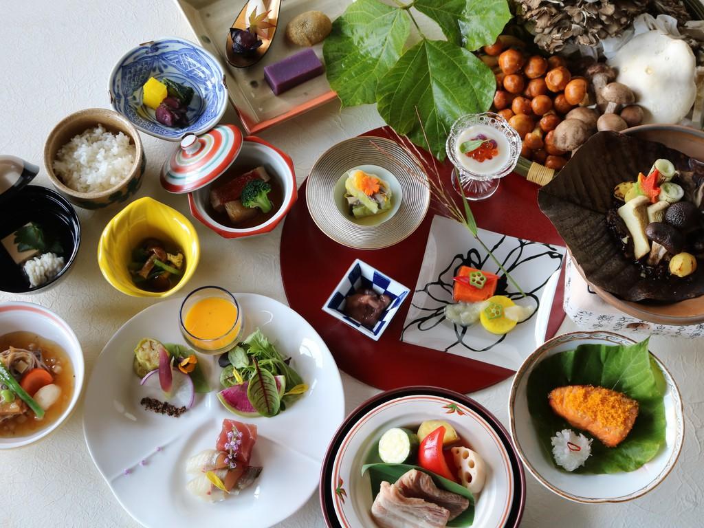 【和食】群馬の食材を使って調理する全8品のコース料理です。(イメージ)