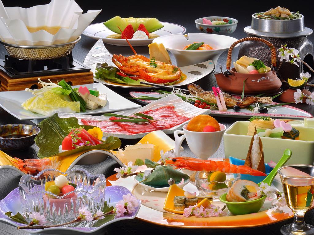 旬の素材を使用した会席料理イメージ