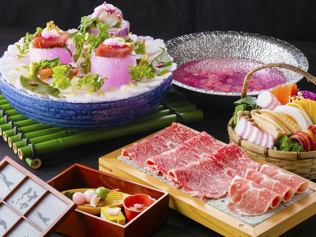 春の特別料理「結桜会席」