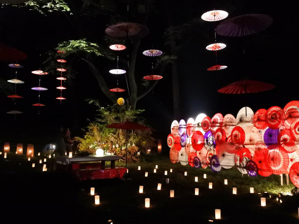 自然と灯りのイベント「月あかり花回廊」