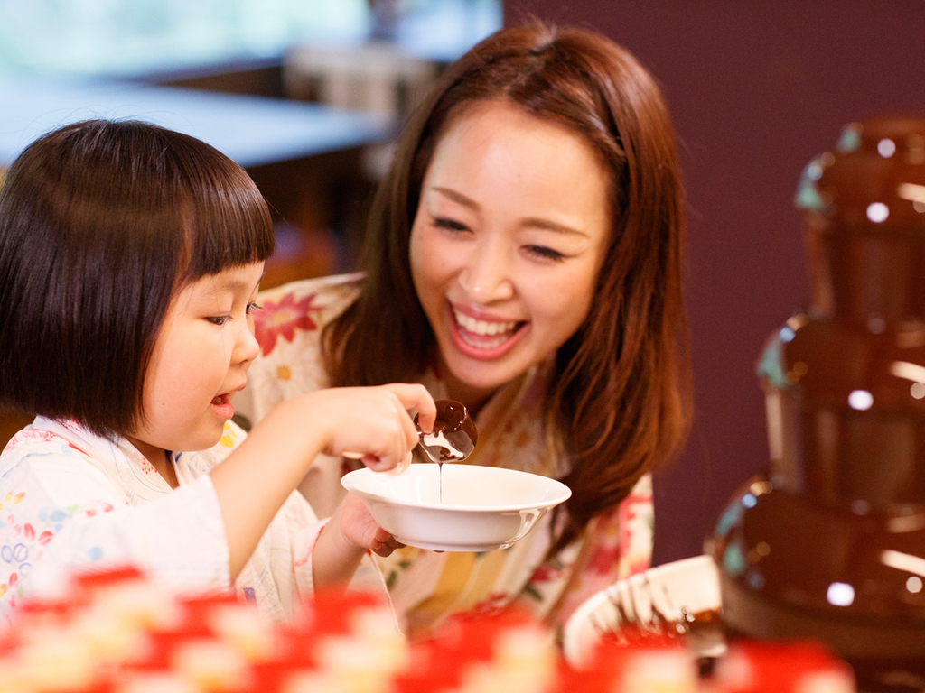 お子様や女性に人気のチョコレートファウンテン!
