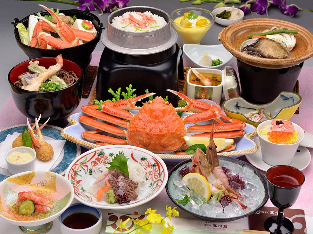 冬の味覚ずわい蟹プラン お料理