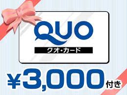 クオカード3000円付き!