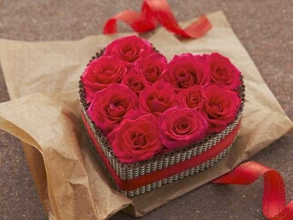 ふたりの甘い時間に、気分も薔薇色♪