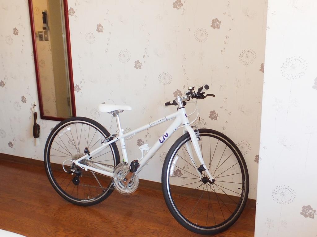 自転車持ち込めます