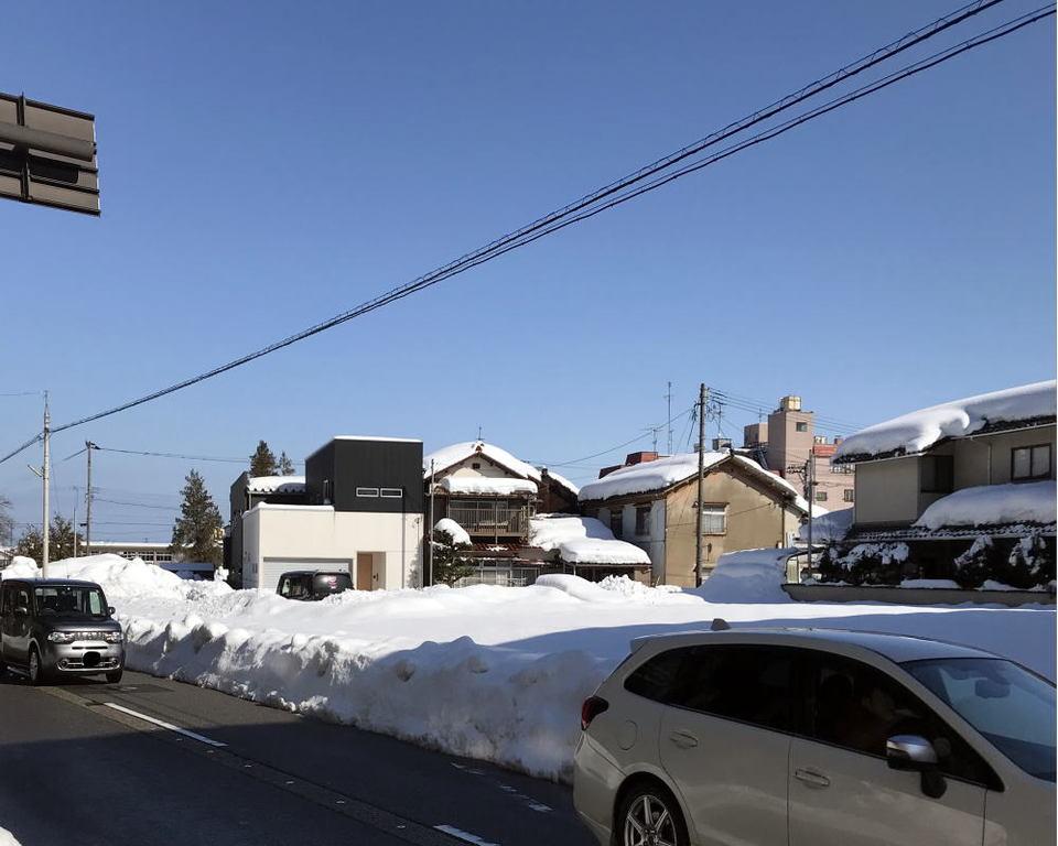 道も除雪されています