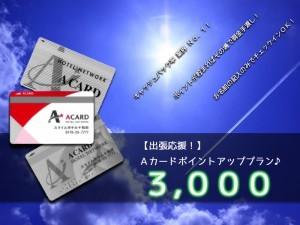Aカードポイントアップ3000