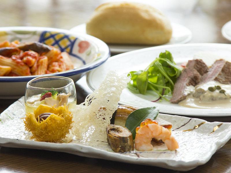 さくら〜旬菜和洋折衷コース〜一例