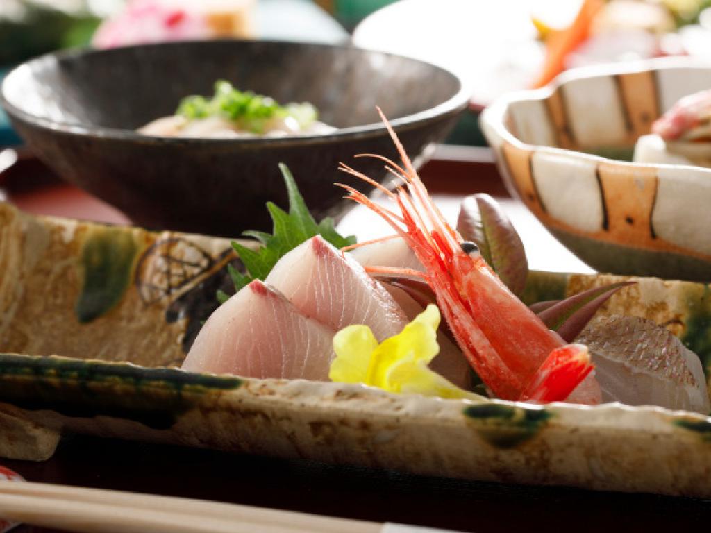 旬魚3種盛り合わせ/越中の旬 美食和会席