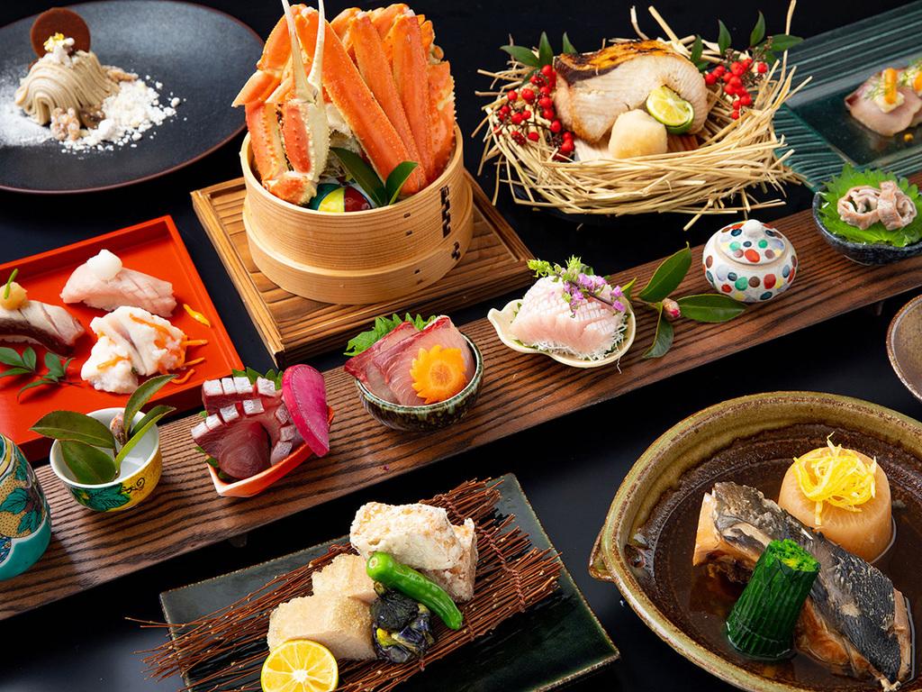 寒ブリ宣言した鰤、ズワイ蟹、のどぐろなどをご賞味ください