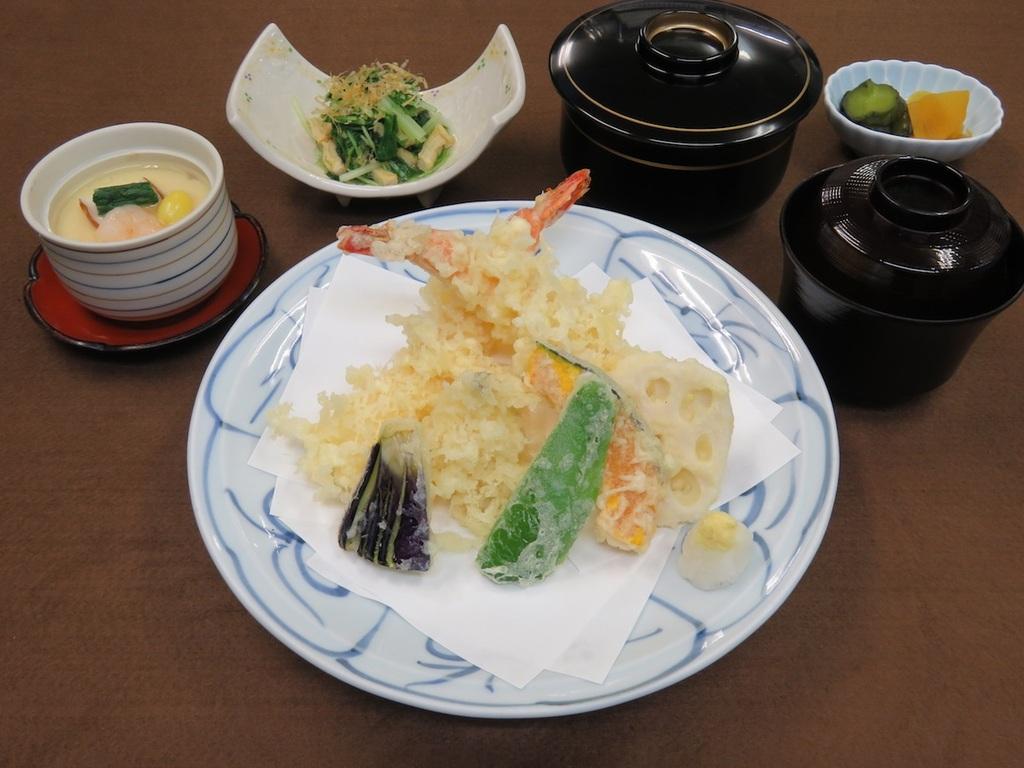 天ぷらご膳(一例)