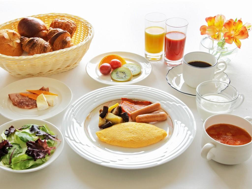 特別会場での朝食(アメリカンブレックファーストのイメージ)