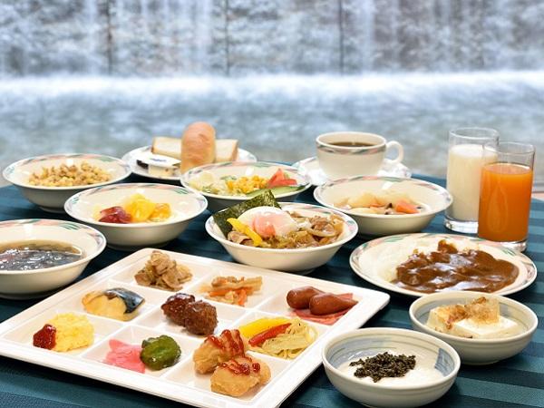 <朝食バイキング>