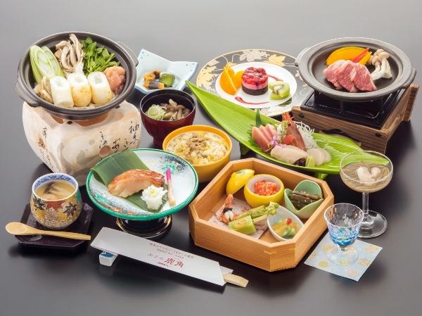 「2017年度 かづの恋姫コース」お料理一例 ※季節により献立は変更となります