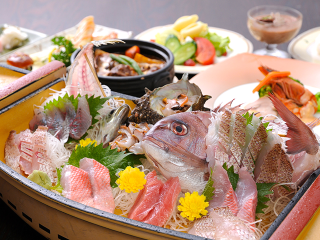 大漁舟盛りプラン ディナー