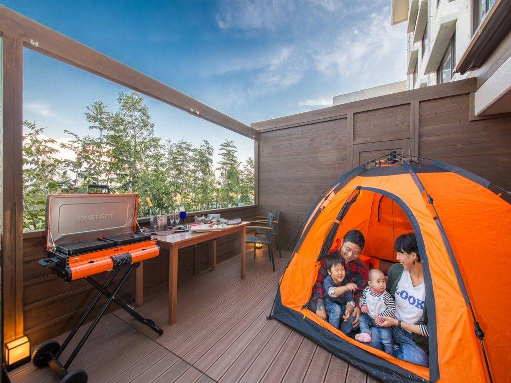 家族みんなでテントでお泊まり!!