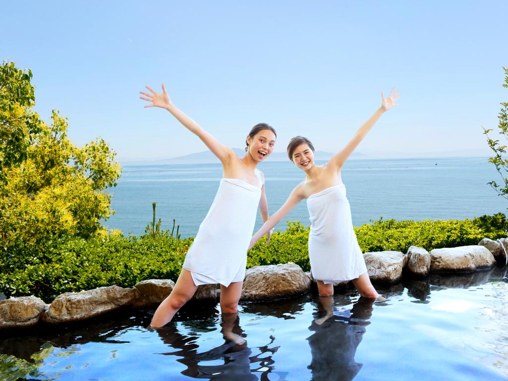 スカッと爽快♪パノラマの眺め♪有明海を望む展望掛け流し風呂♪口コミランク急上昇!