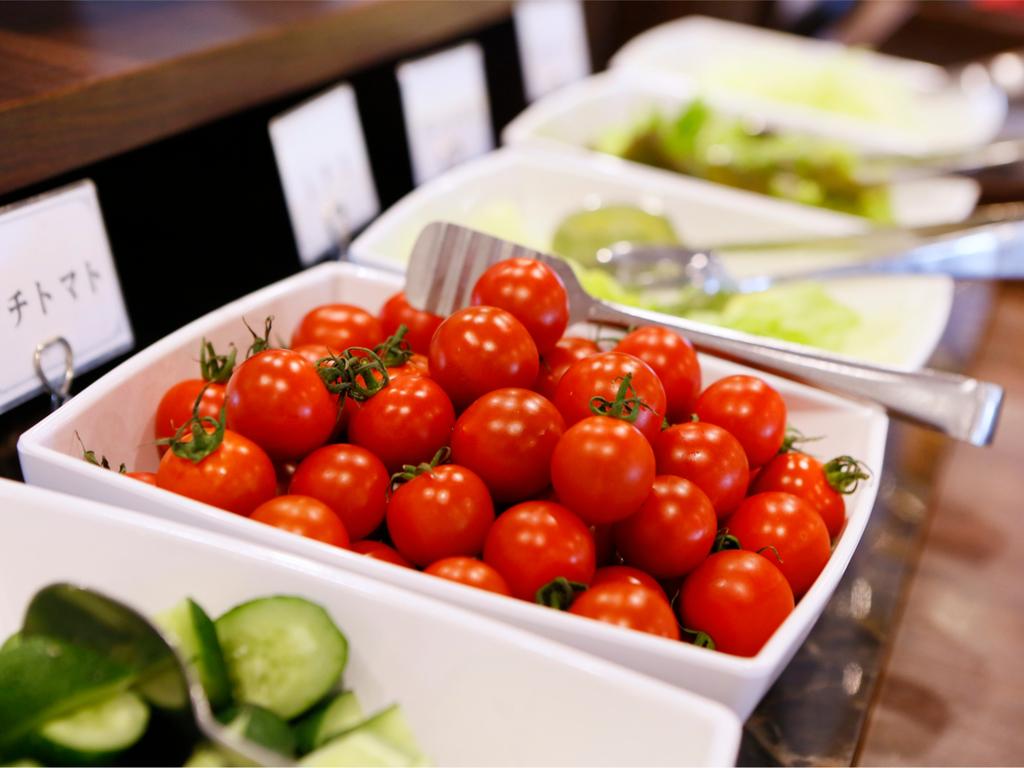 【朝食バイキング】色とりどりの島原野菜が勢ぞろい