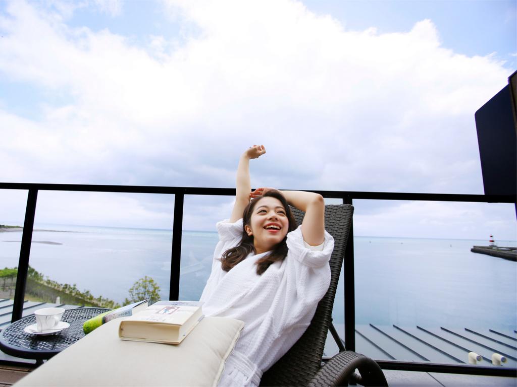 【グランドオーシャンズ】専用テラスで海を眺めながらの〜んびりリラックス♪