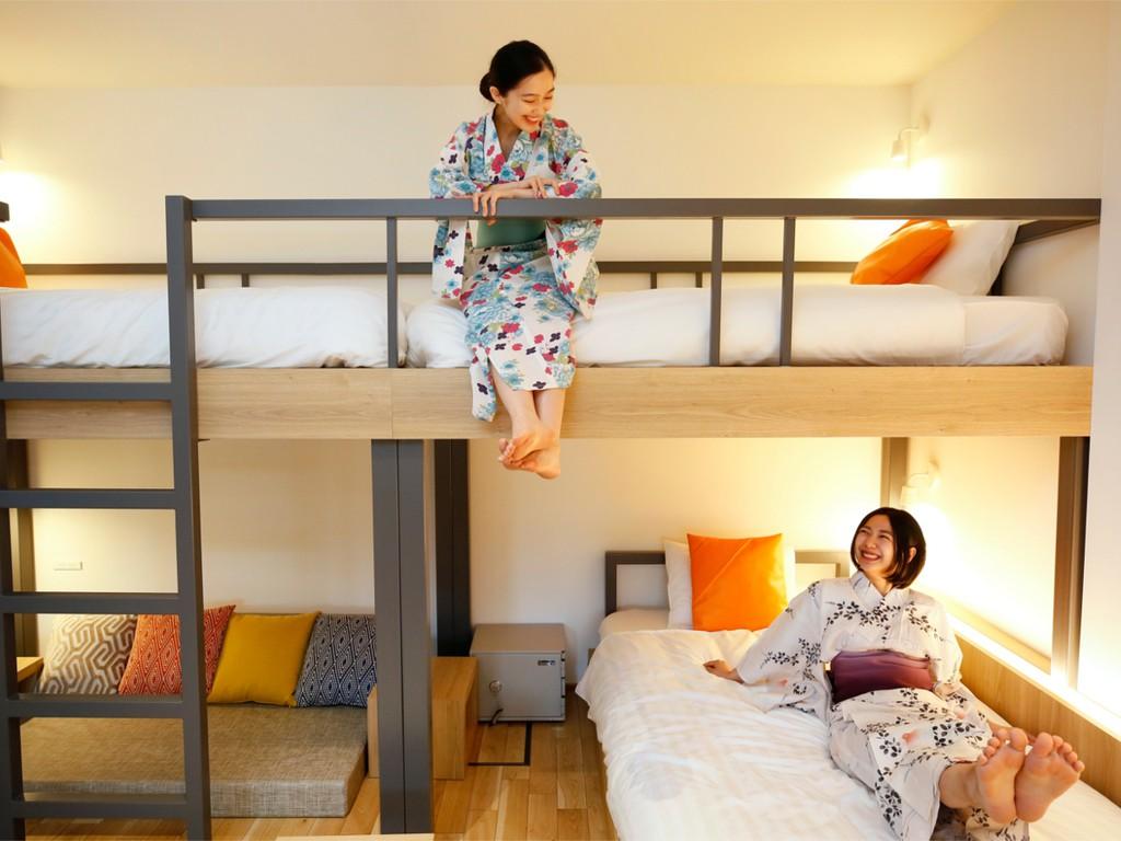 スタイリッシュなベッドは5台!どこのベッドで寝ようかな〜!