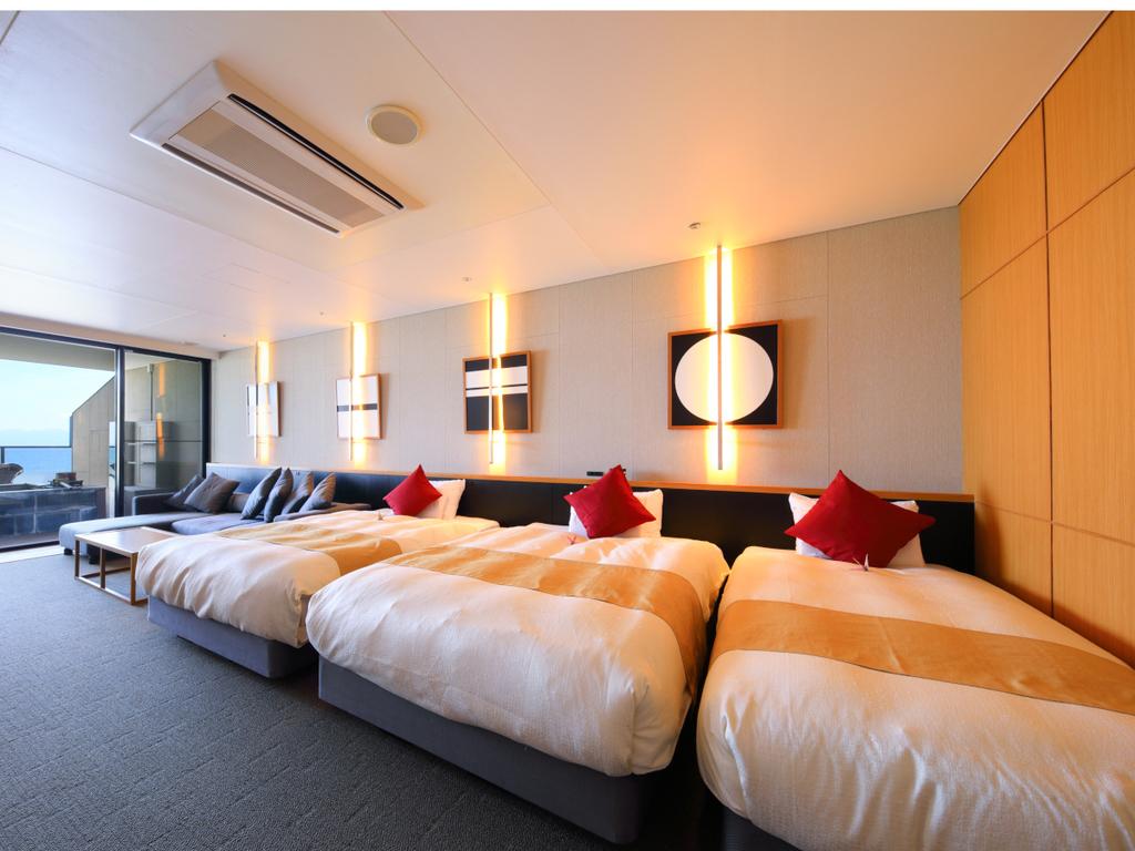 【グランドオーシャンズベッド】オーシャンビューを眺めながら広々使えるベッド♪