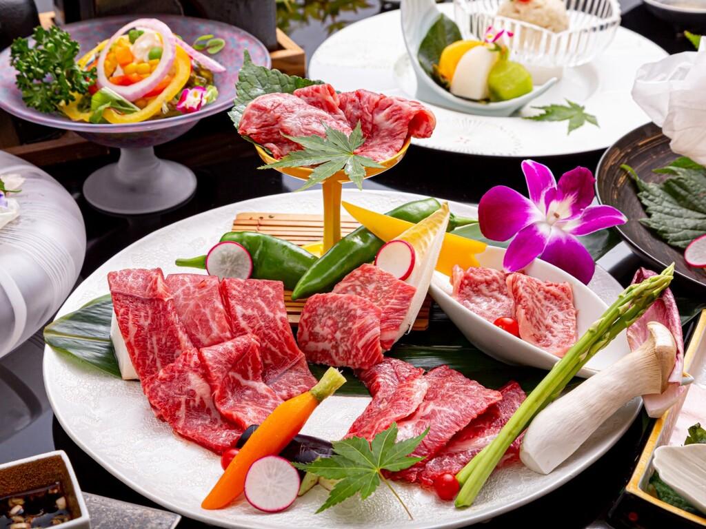 【焼肉会席】特選牛「サーロイン、牛タン、上ロース、上カルビ」を食べ比べ!(画像イメージ)