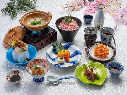 白魚と菜の花の春小鍋コース