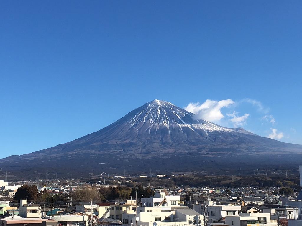 客室から望む富士山