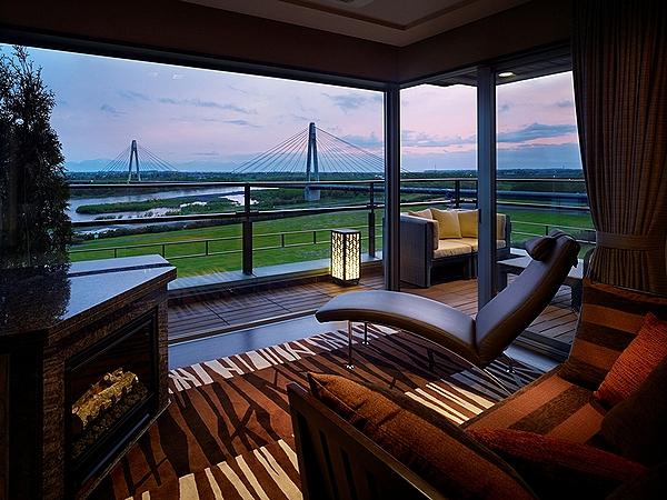 豊洲亭最上階スイート客室からの眺望