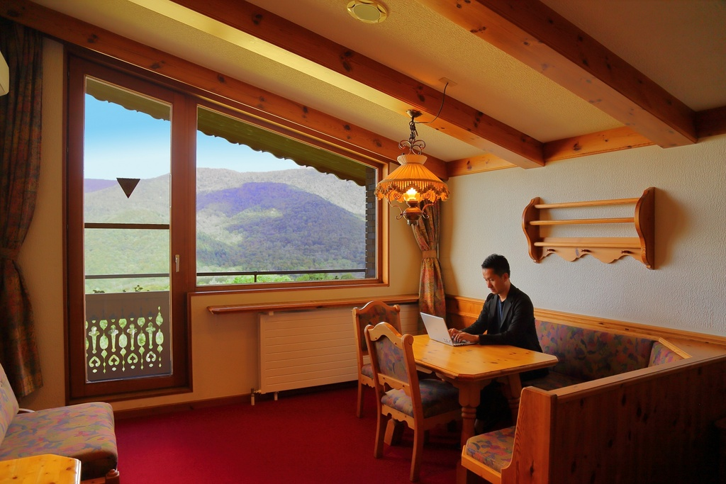 日本にいながらスイスのリゾートで仕事している感覚