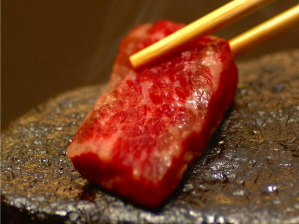 GW★【霜降り上州牛ステーキ150g付き!】『温石焼』で溢れだす肉汁とトロける上州牛の旨みを食べ尽く...