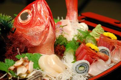 海鮮舟盛(海の味覚5点盛)