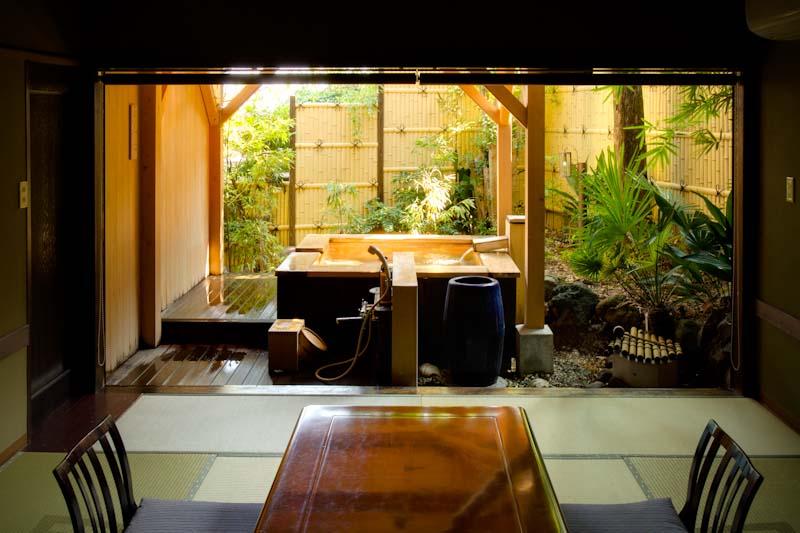 大きな露天風呂付客室「風さやか」