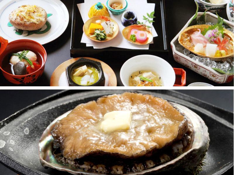旬の「活あわび」を熱々のステーキでお召し上がりください!