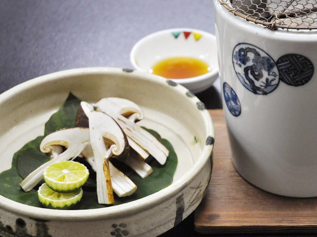 鳳凰松茸懐石イメージ/焼き松茸