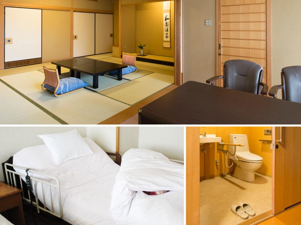 鳳凰/車イス・足腰の弱い高齢の方も安心してご宿泊できるバリアフリー室です