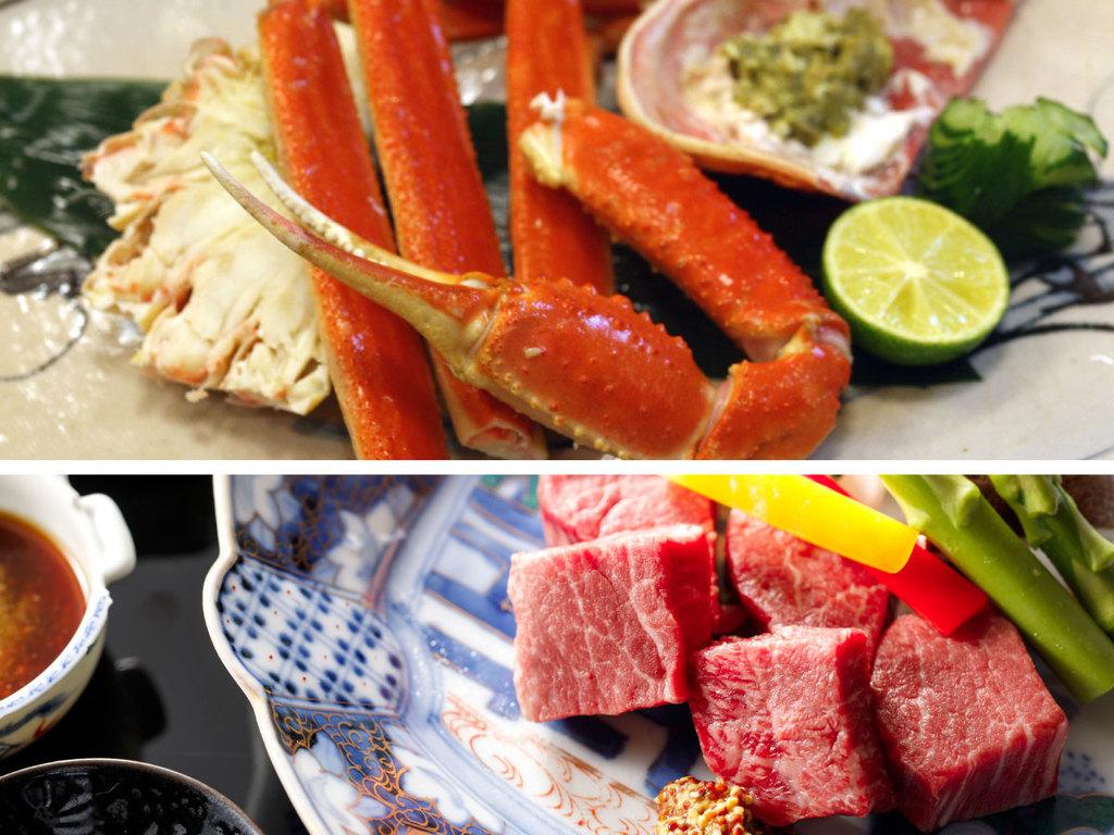 新館/蟹半杯和牛ステーキ