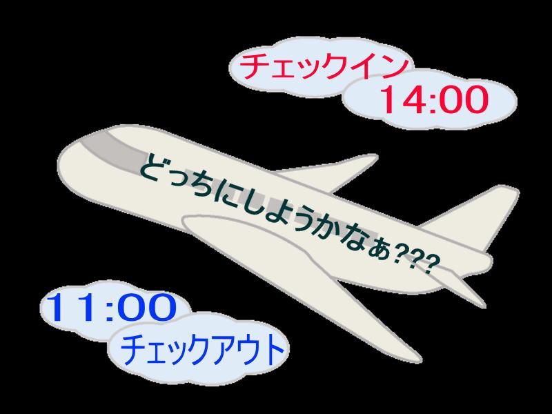14:00チェックインイン! or 11:00チェックアウト!