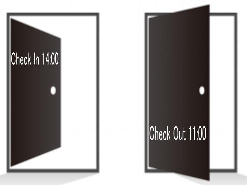 14:00チェックイン/11:00チェックアウト