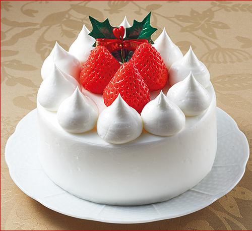 苺のクリスマスケーキ 4号