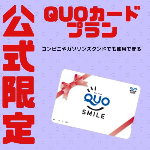 QUOカードプラン 3,000円付
