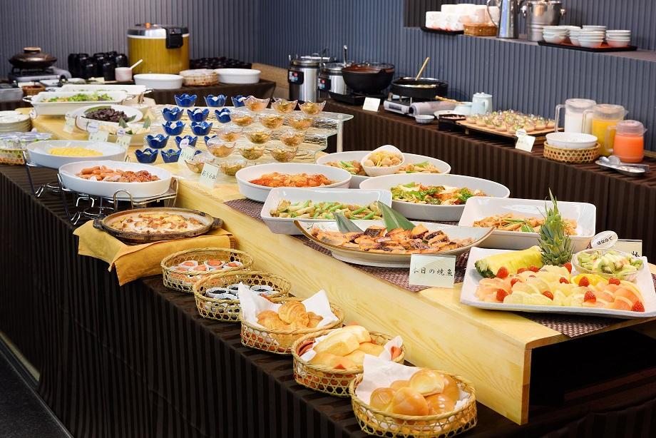 ご好評いただいている朝食バイキング※現在は和定食へ変更いたしております