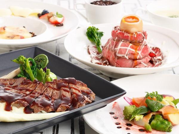 ステーキ&ローストビーフ丼ディナー