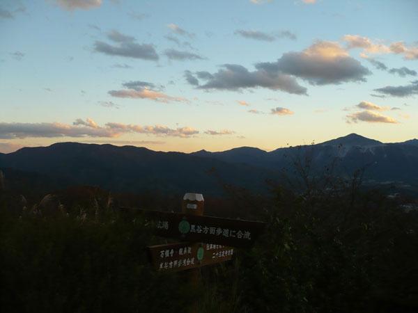美の山山頂付近からの景色