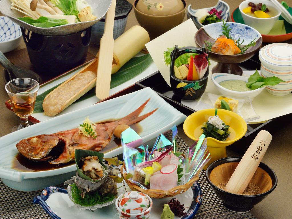 創業より受け継がれる伝統の磯会席のご夕食イメージ