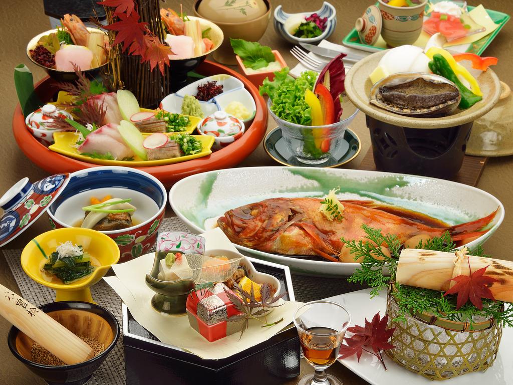 鮑の陶板焼きを選択したご夕食のイメージ