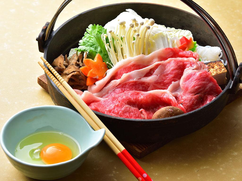 選べる鍋〜上州牛のすき焼き